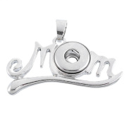 ZARABE Snap Pendant fit Snap Mini Button Letter MOM Hollow 2.7x3.9cm