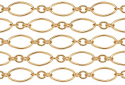 0.6m 14Kt Gold Filled Long and Short Chain 4.7x2.2 mm 27 Gauge For Diy Beading Arts and Crafts