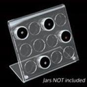 Acrylic Easel Gem Jar Display 12 Jars