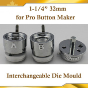 """Asc365 32mm 1-1/4"""" Interchangeable Die Mould for Pro N3 N4 Badge Button Maker"""