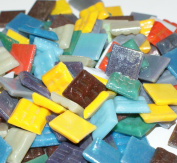 Hakatai Glass Mosaic Tile 1.6cm - ½ Pound Rainbow Bright Blend FBL08