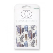 Craft Consortium Decoupage Printed Paper Pack of 3 - CP218 Loxely