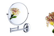 Cavoli 15cm Double-sided Wall Mount Mirror Cosmetic Make up Shaving Bathroom Mirror with Chrome Finish