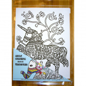 Zendoodle Iron On Transfers Adult Colouring Iron On Transfer Unicorn