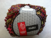 Muench Fabu Boucle Ribbon Yarn - #4328 Olive, Scarlet, Lilac, Gold 50 Gramme