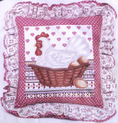 """Elsa Williams - """"Henrietta In Cross Stitch"""" Creative Cross Stitch Pillow Kit"""