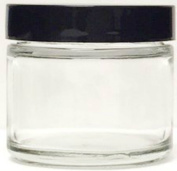 Clear Thick Glass Straight Sided Jar - 2 oz / 60 ml