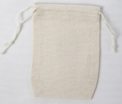 Cotton Muslin Bags 7cm x 10cm Double Drawstring 500 Count Pack