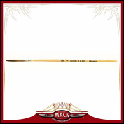 Size 1 Series Extended Quinn Mack Brown Quill With Plain Lacquered Brush Pinstriper, 3.2cm Hair Length