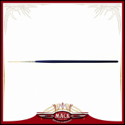 Size 0 Series 444 The Virus Scrolling Script Pinstriping Brush With Specially Blended Golden Taklon, 2.2cm Length Out
