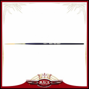 Size 1 Series 444 The Virus Scrolling Script Pinstriping Brush With Specially Blended Golden Taklon, 2.5cm Length Out