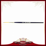Size 2 Series 444 The Virus Scrolling Script Pinstriping Brush With Specially Blended Golden Taklon, 3cm Length Out