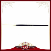 Size 4 Series 444 The Virus Scrolling Script Pinstriping Brush With Specially Blended Golden Taklon, 3.3cm Length Out