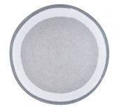 Spot On Square Trio Crocheted Cotton Rug, Grey