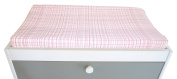 Spot On Square Hashtag Organic Cotton Fitted Changing Pad Cover, Pink