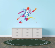 Design with Vinyl Hope 77-414 As Seen Decor Item Vinyl Wall Sticker Colourful Soccer Player Kicking Ball Sports Team Boy Girl Living Room Bedroom, 30cm x 30cm