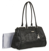 Little Me Jacquard Duffle Nappy Bag, Black