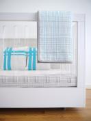 Spot On Square Hashtag Organic Cotton Twill Quilt, Blue