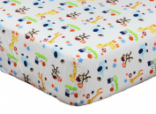 Ready Set Go 100% Cotton Fitted Crib Sheet by Riegel