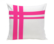 Spot On Square Hashtag Organic Cotton Twill Pillow, Pink