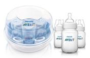 Playtex Bottle & Nurser Variety Nipple Set with Bonus Baby Haven Reusable Steam Steriliser Bag, Medium Flow