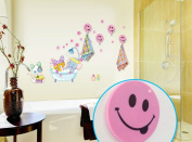 Cutelyn Home Decor Removable Peel and Stick Nursery Wall Decals with 4 Hooks, Decorative Mural Decal Combination, Perfect Home Natural Resuable Decorations for Baby Nursery Bedroom, Kid's Room, Boy's Room, Girl's Room, Restroom, Nursery Children's Room ..