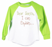 "Wholesale Princess Holiday ""Dear Santa, I Can Explain.."" Baseball T-shirt"