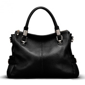 AINIMOER Soft Cowhide Leather Tote Shoulder Bag Nice Women Top-handle Crossbody Handbag Ladies' Purse Messanger Travelling Business