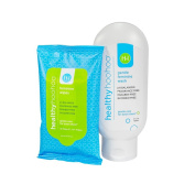 healthy hoohoo All Natural Gentle Feminine Wash (120ml) and Travel Pack of Wipes (10 Wipes) Combo Pack