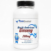 North American Ginseng 200mg // 200 Capsules // Pure // by PureControl Supplements