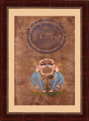 Splendid India 2 Royal Ladies Traditional Dancing On about 100 year Old Court Stamp Paper