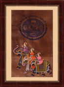 Splendid India 3 Royal Rajasthani Maharaja Riding On Elephants On about 100 year Old Court Stamp Paper