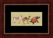 Splendid Indian Horse, Camel and Elephant Royal Fine Miniature Painting On Old Handmade Paper