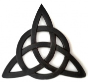 Resin Celtic Trinity Knot Wall Art for Home Decoration, Religious Communion Baptism Gifts, & Churches