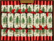 20cm X 25cm English Christmas Crackers By Robin Reed - Spode Tree Original