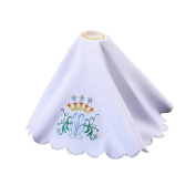 Blessume Altar Cloths Flower Embroidered Pall Cover Chalice Veil
