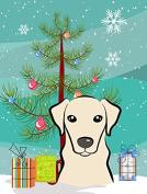 Christmas Tree and Yellow Labrador Flag Canvas House Size BB1594CHF