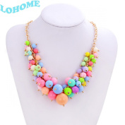 LOHOME® Necklace, Fashion Women Chain Faux Pearl Cluster Chunky Choker Bib Statement Necklace