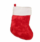 Red Plush Christmas Stockings - 2 Pack