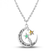 """""""I Love You To the Moon And Back"""" Moon and Stars Pendant"""