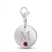 Esty & Me Sterling Silver Initial Disc Charm