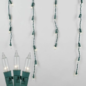4.6m Commercial Grade Outdoor Icicle Light Set, Green Wire, Long Drop, 150 Light