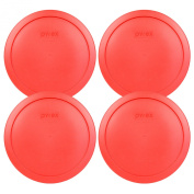Pyrex 7402-PC Red Round Storage Replacement Lid Cover fits 6 & 7 Cup 18cm Dia. Round