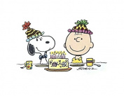 Charlie Brown Peanuts Snoopy Edible Image Photo Cake Topper Sheet Birthday Party - 1/4 Sheet - 74204