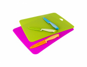 Art and Cook 8 Piece Cutting Board & Knife Set, Multicolor