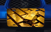 Gold Bars Aluminium Licence Plate for Car Truck Vehicles
