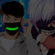 ZWZCYZ Boys and Girls Couples Cotton Big Teeth Zipper Luminous Anti-Dust Mouth face Mask Anime Cosplay Gift