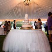 OLizee™ Romantic Wedding Party Birthday Supply Dessert Station Gauze Decoration