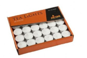 Tea Lights White Unscented 4.5 Hour - 60 Count in Box