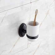 MARMOLUX ACC Aix Series 16138-ORB Bathroom Tumbler Toothbrush Cup Holder Set, Oil Rubber Bronze